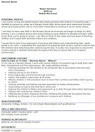 Interest And Hobbies For Resume Samples by Nursery Nurse Cv Example Icover Org Uk