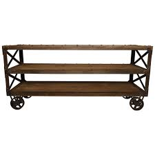 Industrial Kitchen Cart by Large Vintage Industrial Three Tier Cart For Sale At 1stdibs
