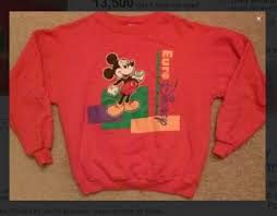free 90 u0027s euro disney sweatshirt pull over sweater gin u003d fast