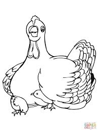 Musterk Hen Ausmalbild Bruthenne Mit Küken Ausmalbilder Kostenlos Zum