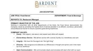 food server job description server job description table busser