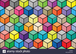 colorful colors seamless pattern with colorful cubes vivid 3d effect background