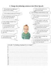 english worksheets indirect speech worksheets page 11