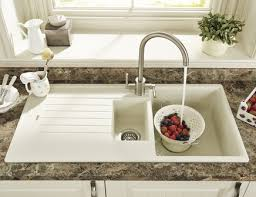 Lamona Cream Granite Composite  Bowl Sink Granite Composite - Kitchen sinks granite composite