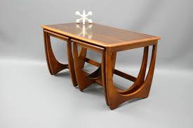 Coffee Table Nest by Mid Century Nest Of 3 Coffee Tables Kalmar Sleigh Legs Retro