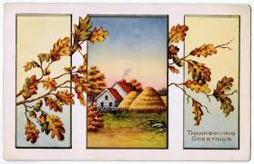 pastoral farmhouse antique thanksgiving postcards knick of time