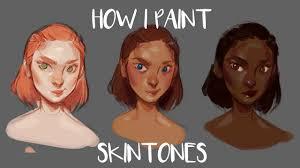 how i paint skin tones youtube
