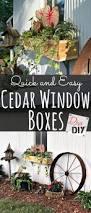 diy window flower boxes how to make the easiest cedar window boxes diva of diy