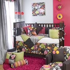 Nursery Bedding For Girls by Glenna Jean Baby Black Hawaiian Tropical Crib Nursery Bedding