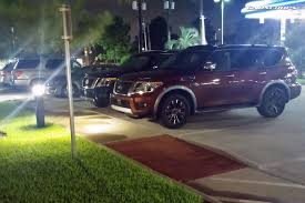 nissan armada 2017 vs patrol 2017 nissan armada snapped by reader hanging out in houston