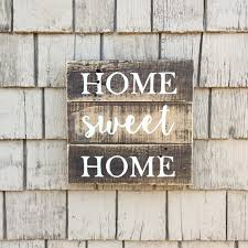 rustic home sweet home sign farmhouse sign pallet sign