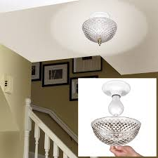 hampton direct ceiling clip on diamond cut acrylic dome light