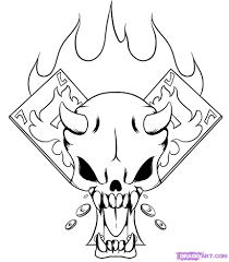drawing of skulls coloring page clip art library