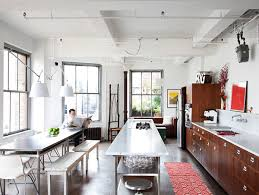 stainless steel kitchen island kitchens industrial kitchen with wood kitchen counter also