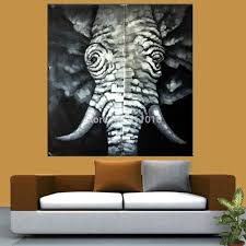 decorative art handmade animal oil painting on canvas living room