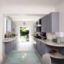 galley style kitchen design ideas galley kitchen design ideas ideal home