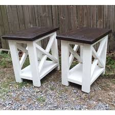 Making Wooden End Tables by Best 25 Rustic End Tables Ideas On Pinterest Wood End Tables