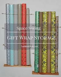gift wrap storage ideas space saving gift wrap storage hometalk