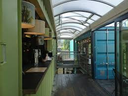 shipping container restaurant conversion wahaca on london southbank