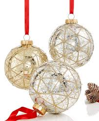 set of 3 large shatterproof ornaments created for