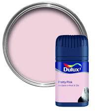 dulux tester pretty pink matt emulsion paint 0 05l tester pot