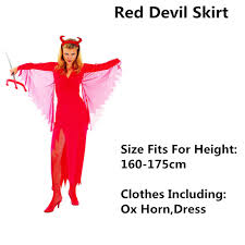 Red Witch Halloween Costume Devil Skirt Witch Halloween Costume