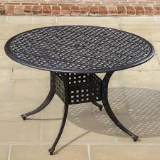 48 Inch Round Table by Madison Bay 5 Piece Sling Patio Dining Set With Swivel Rockers And