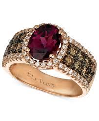 rose gold amethyst diamond ring yes please le vian garnet 1 7 8 ct chocolate diamond 3 4 ct
