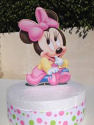 baby minnie mouse baby shower baby minnie mouse cake topper for baby shower or 1st birthday