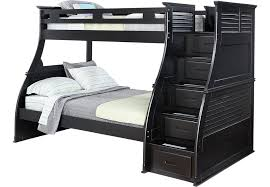 Belmar Black  Pc Twin Full Step Storage Bunk Bed BunkLoft Beds - Rooms to go bunk bed