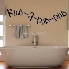 Diy Home Decor Wall Art Aliexpress Com Buy Rub A Dub Bathroom Kitchen Quote Wall Art