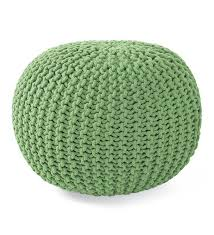 hand knitted pouf ottoman gifts 75 100