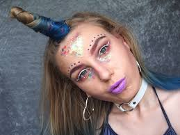 unicorn hair u0026 makeup for halloween alybell