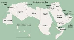 arab countries map arabic language