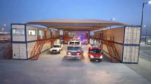 shipping container fire station by monitac youtube