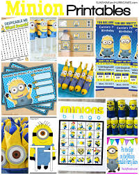 Minions Invitation Card Minion Printables Round Up