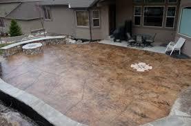 Backyard Cement Ideas Enjoyable Design Ideas Cement Backyard Concrete Luxury Patio