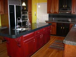painting stained cabinets