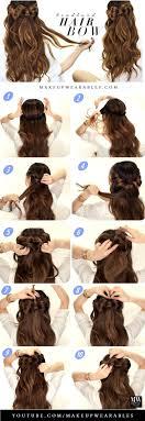 hair bow with hair best 25 hair bow hairstyles ideas on bow hairstyles