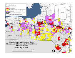 Map New York State Maps Of Fracking Support And Bans And Moratoria In New York State
