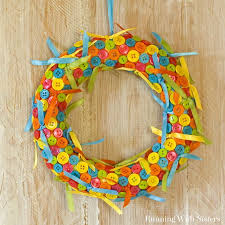 ribbon wreaths sweet ribbon and button wreath running with