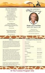 funeral memorial programs free celebration of program template creative funeral