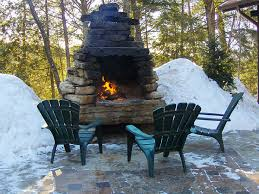 How To Create An Outdoor by How To Build An Outside Fireplace Crafts Home