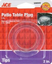 patio table plug 2 1 4 ace patio table umbrella cover protector plug 2 od clear by ace