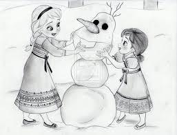 elsa and anna make olaf by julesrizz on deviantart