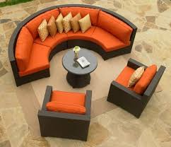 Circular Patio Seating Curved Outside Patio Furniture 16 Astounding Curved Patio