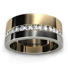 mens wedding bands melbourne aramis men s diamond two tone ring 0 40 carats