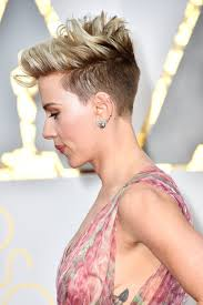 scarlett johansson at the 2017 oscars celebrity tattoos red