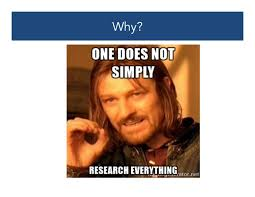 Agenda Meme - crafting a research agenda in memes