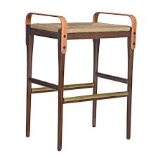 leather strap backless bar stool mecox gardens